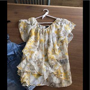 d0f0763e0f7 RAFAELLA Fly-away multi layer tier tank top blouse